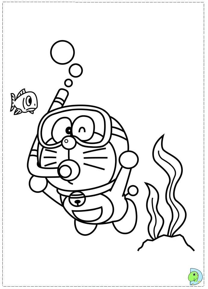 Doraemon coloring page- DinoKids.org