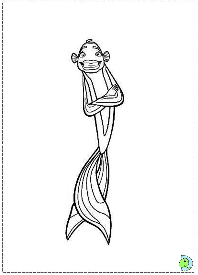 shark tale coloring book pages - photo#20