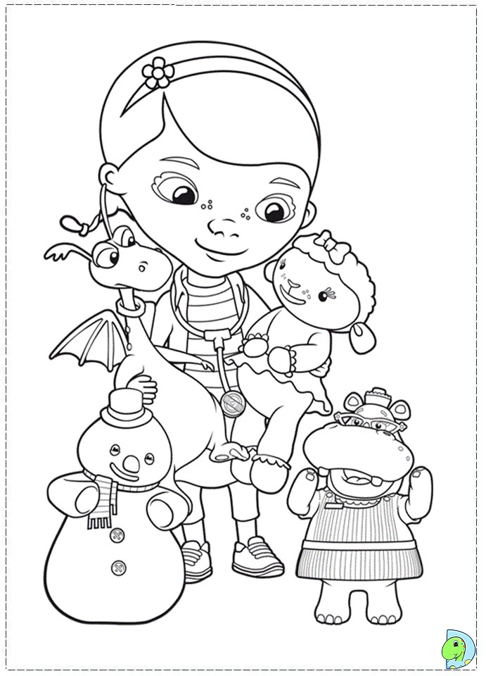 Disney Coloring Pages Doc Mcstuffins : Doc mc stuffins coloring pages dinokids