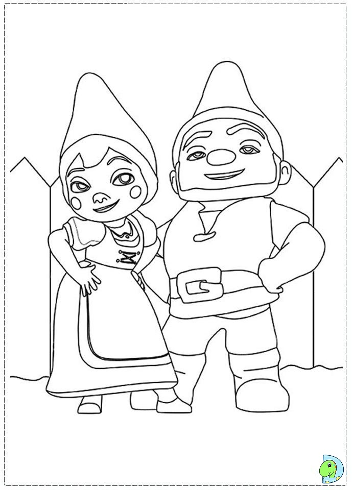 Gnomeo and Juliet Coloring page DinoKidsorg