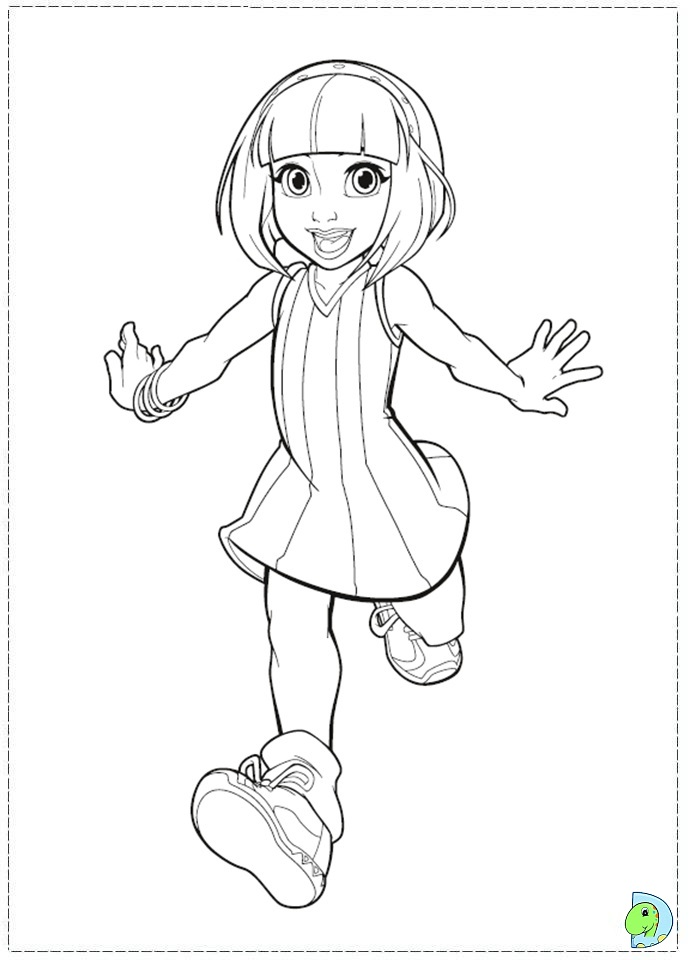 free printable lazy town coloring pages