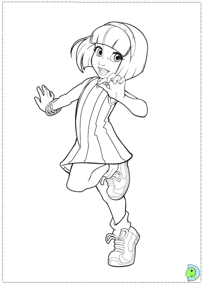 Lazy Town Coloring Page Dinokids Org
