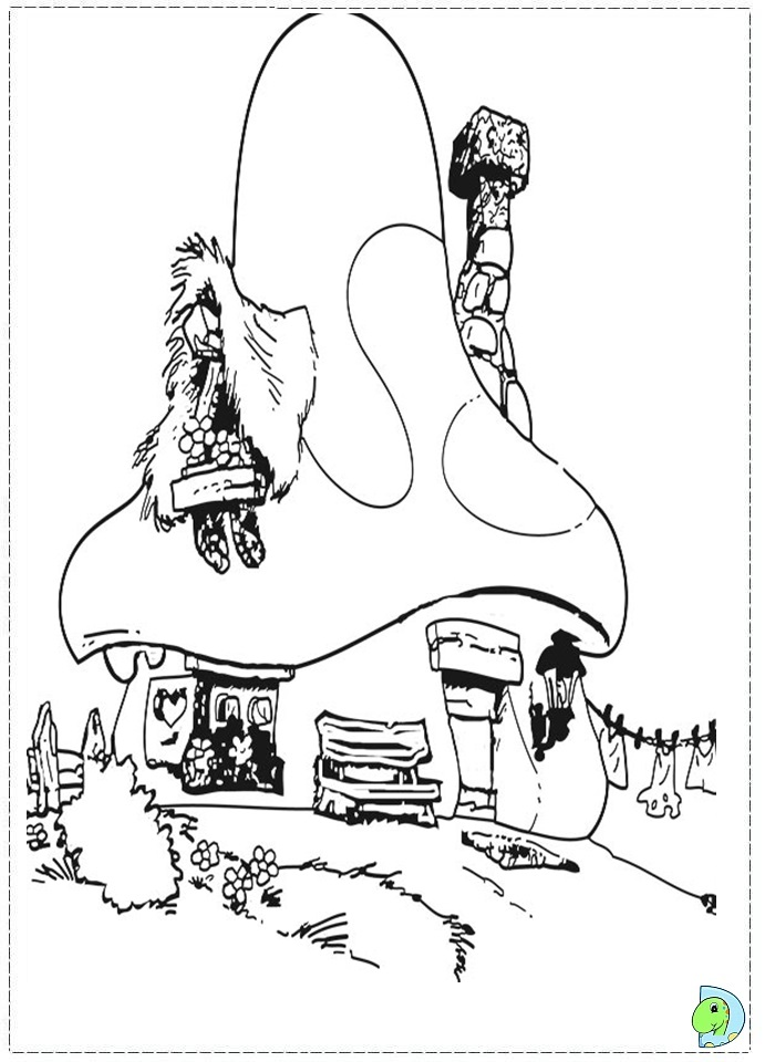 The Smurfs Coloring pages- DinoKids.org