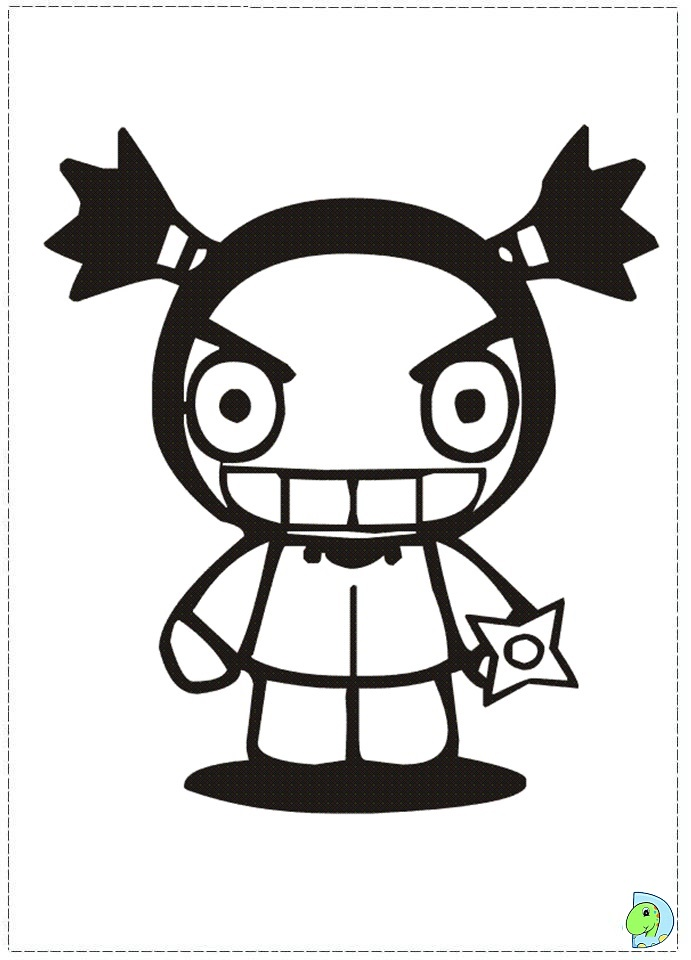 Pucca Coloring Page Dinokids Org