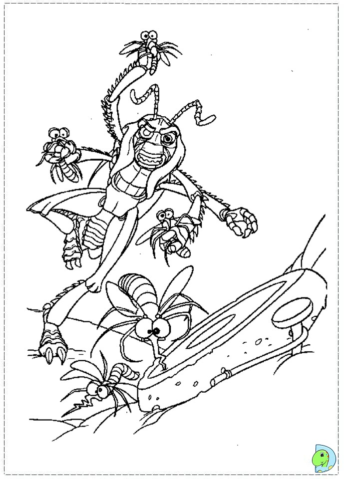 A Bug's Life Coloring page- DinoKids.org