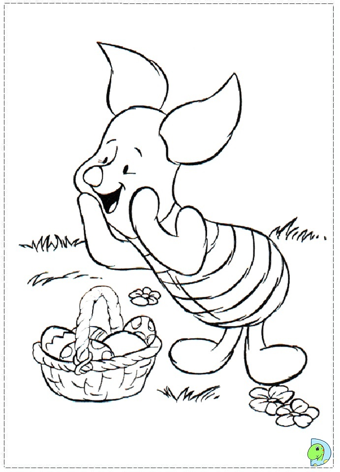Piglet Coloring page- DinoKids.org