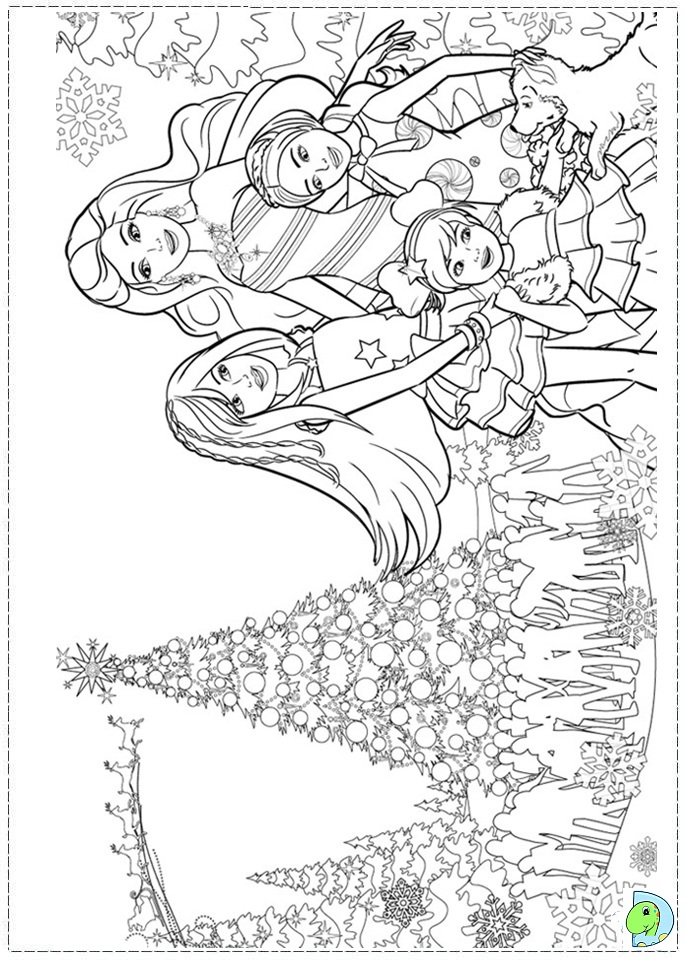 barbie christmas coloring pages page