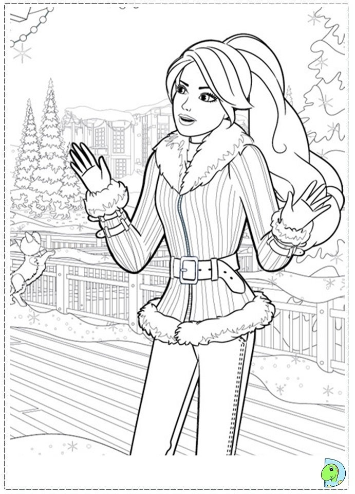Barbie Christmas Coloring Pages To Print Coloring Pages