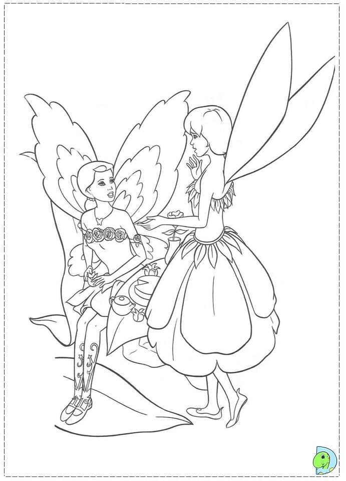 Barbie Fairytopia Coloring Page Dinokids Org