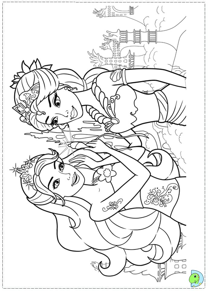 Barbie Mermaid Printable Colouring Pages