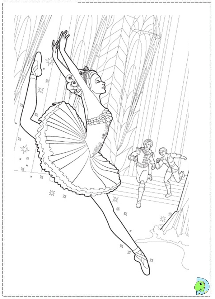 Barbie pink shoes coloring page dinokids