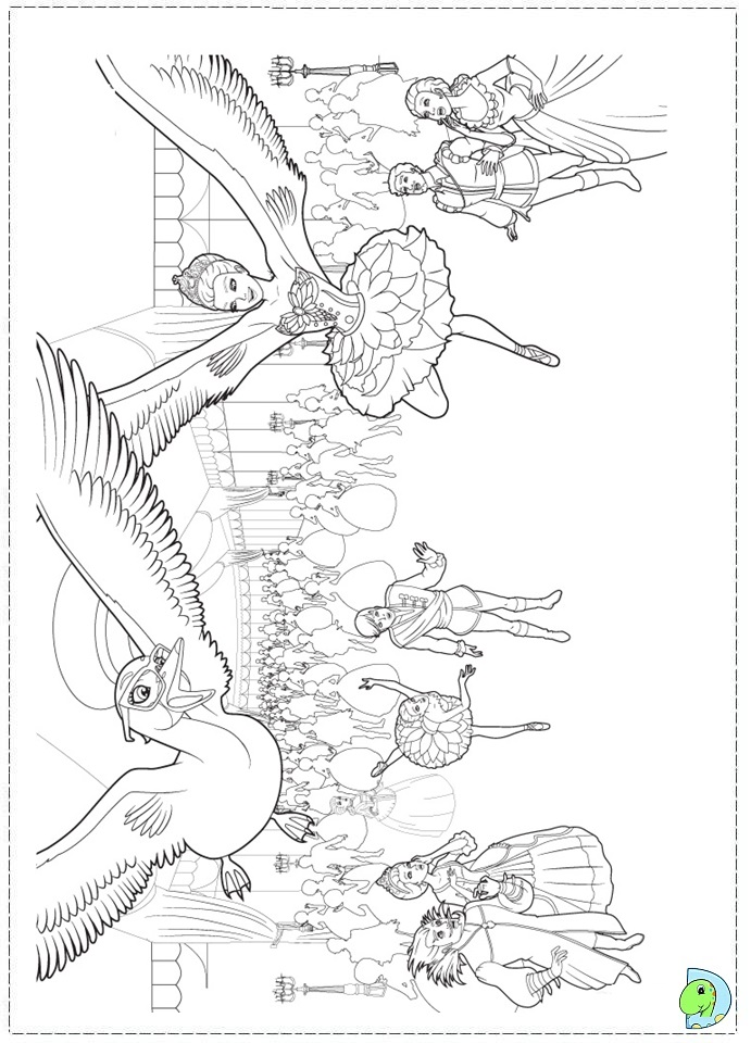 Barbie Pink Shoes Coloring Page DinoKidsorg