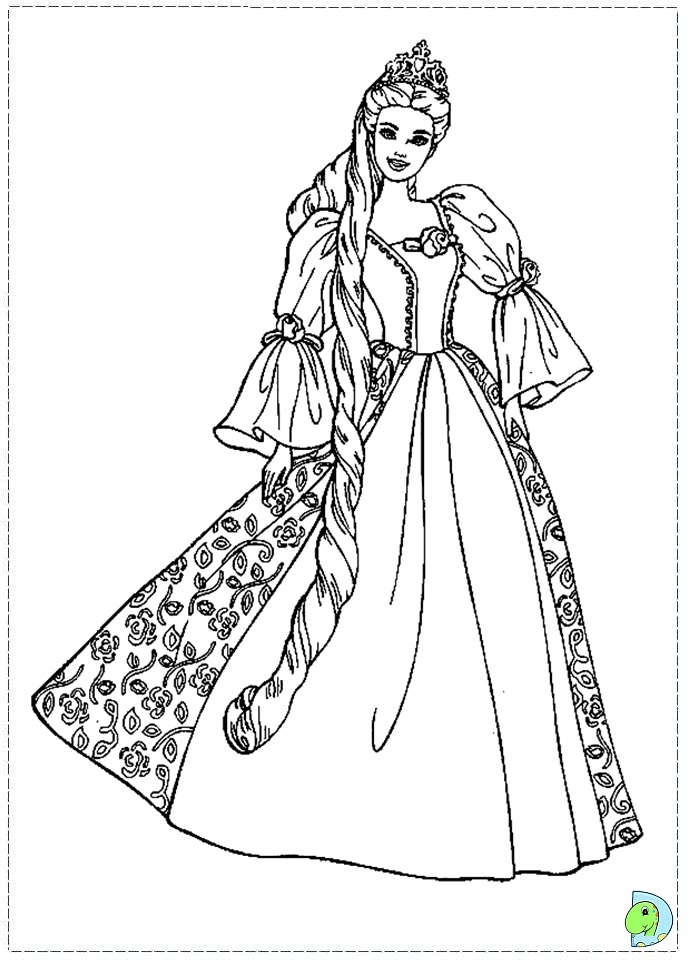 Barbie As The Princess And Pauper Coloring Pages DinoKidsorg