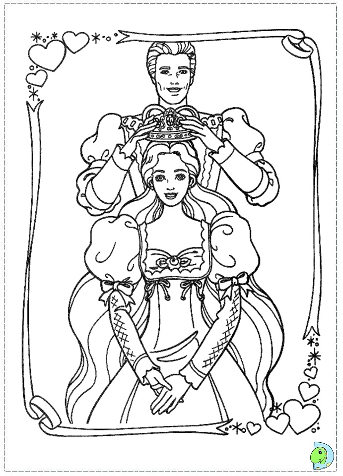 Coloring Pages Barbie Princess And The Pauper