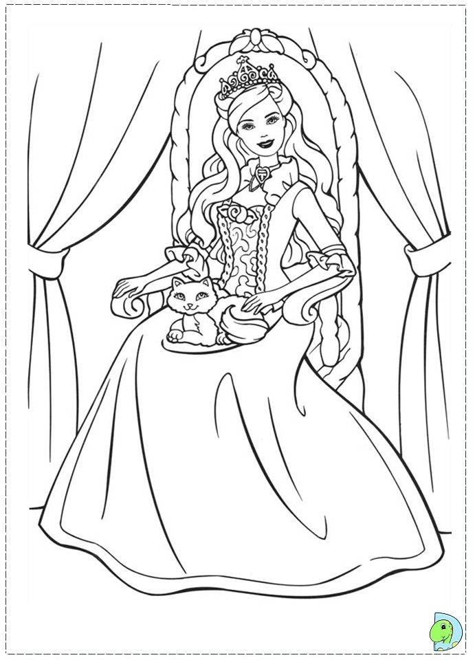 princess pauper coloring pages - photo#1