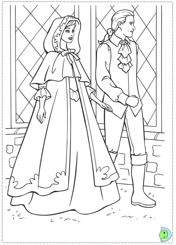 princess pauper coloring pages - photo#4