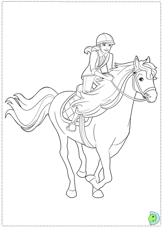 Barbie and her sisters in a Pony Tale, coloring Barbie ...