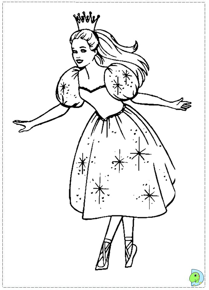 barbie Nutcracker Coloring page - DinoKids.org