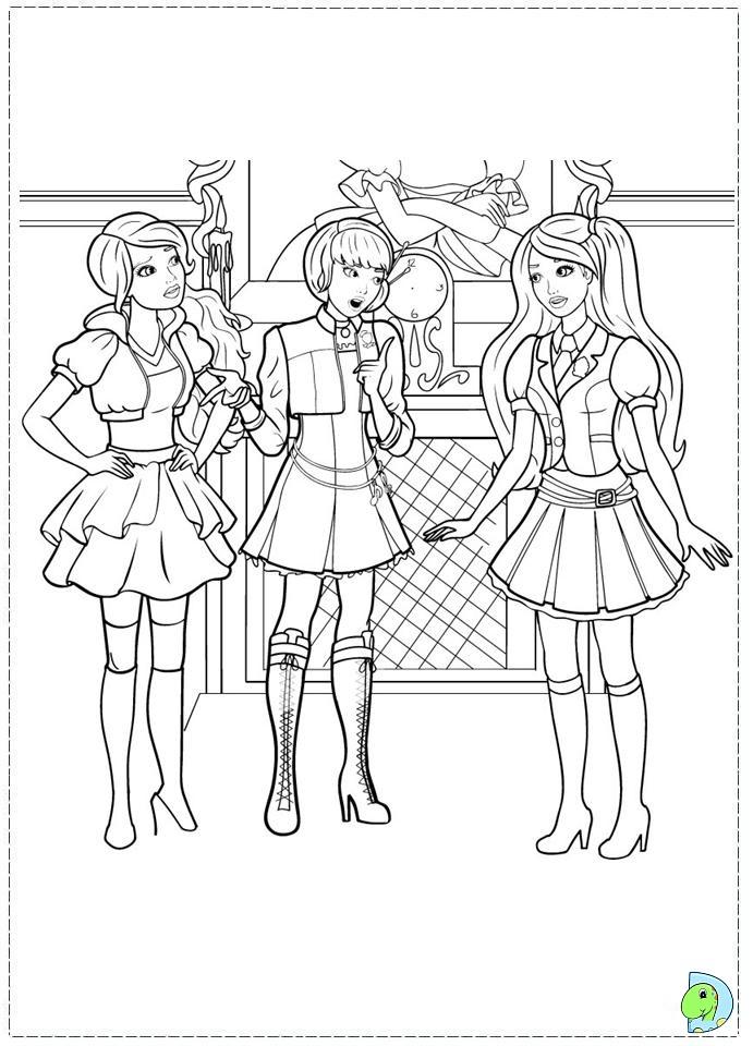 Barbie Princess Charm School Coloring