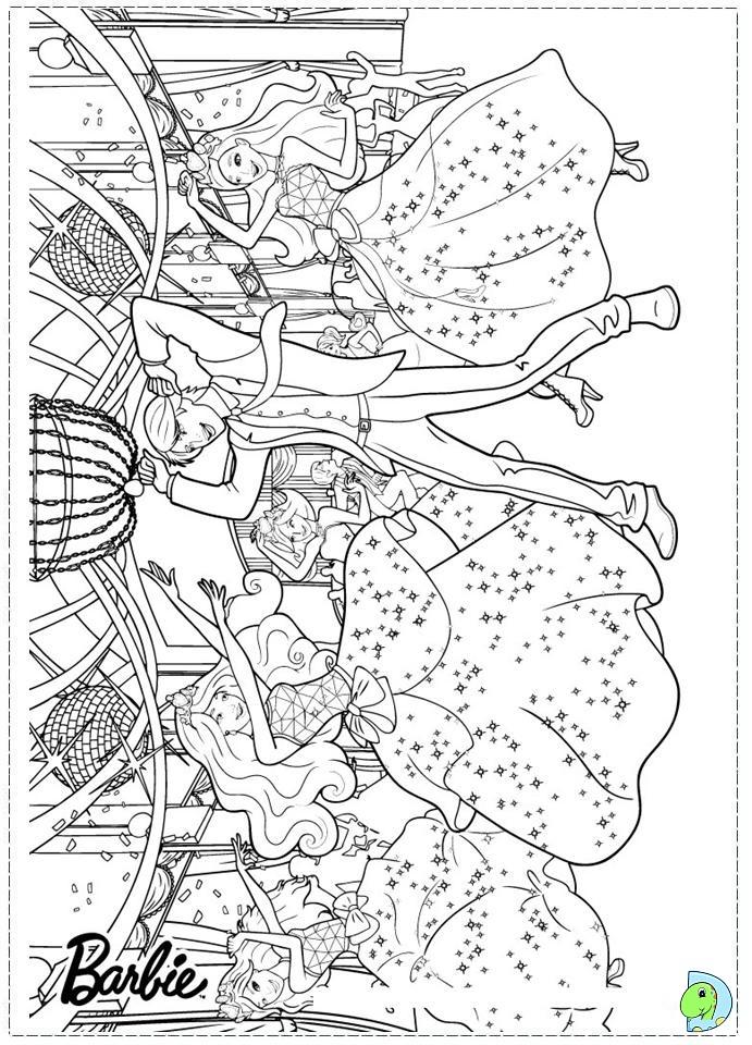 Barbie Princess Charm School Coloring Page DinoKidsorg