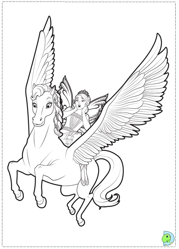 Barbie Mariposa and the Fairy Princess coloring page- DinoKids.org