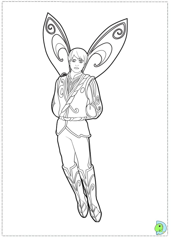 Coloring Pages Of Barbie A Fairy Secret : Barbie mariposa and the fairy princess coloring page