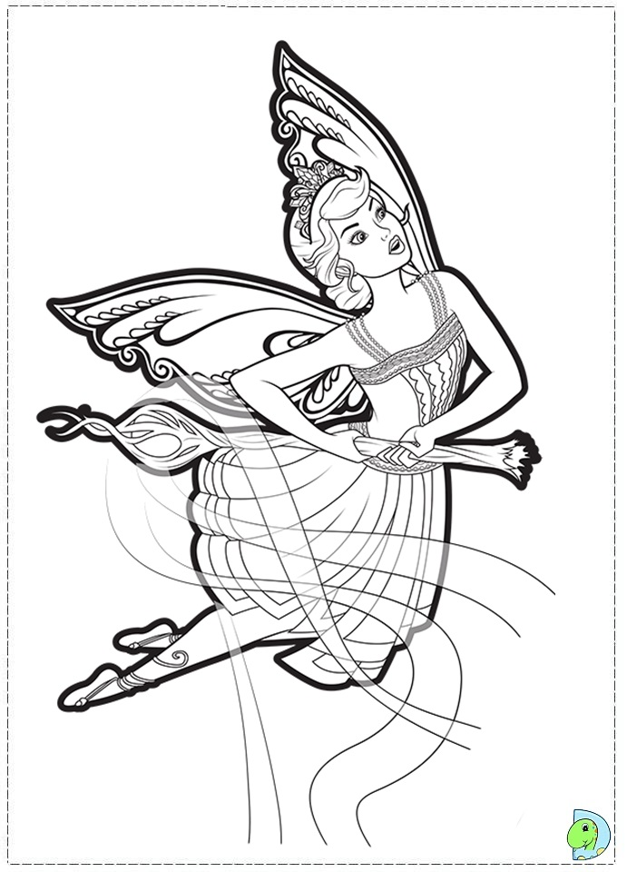 Barbie Mariposa Coloring Pages To Print : Barbie mariposa and the fairy princess coloring page