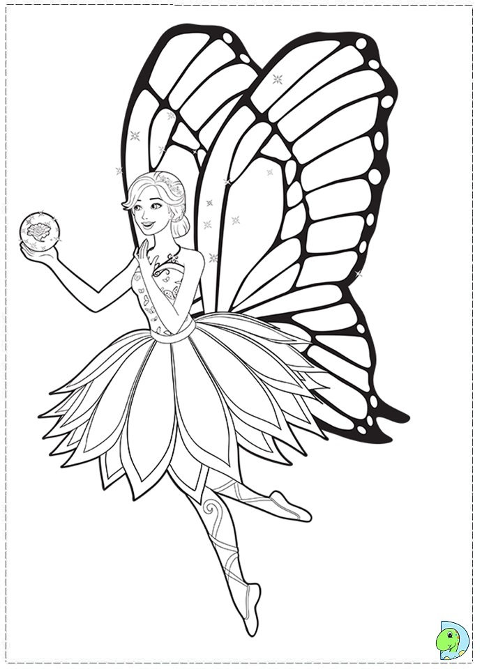 Free Printable Barbie Fairy Coloring Pages Coloring Pages
