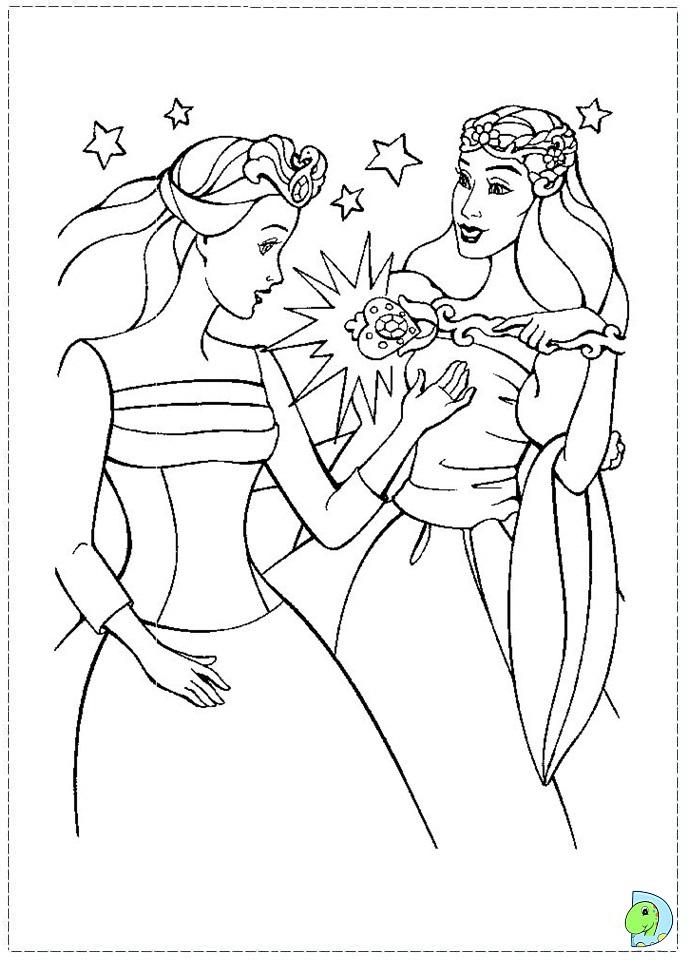 Barbie of swan lake coloring page- DinoKids.org