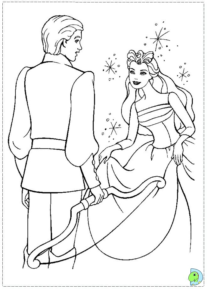 Barbie of swan lake coloring page