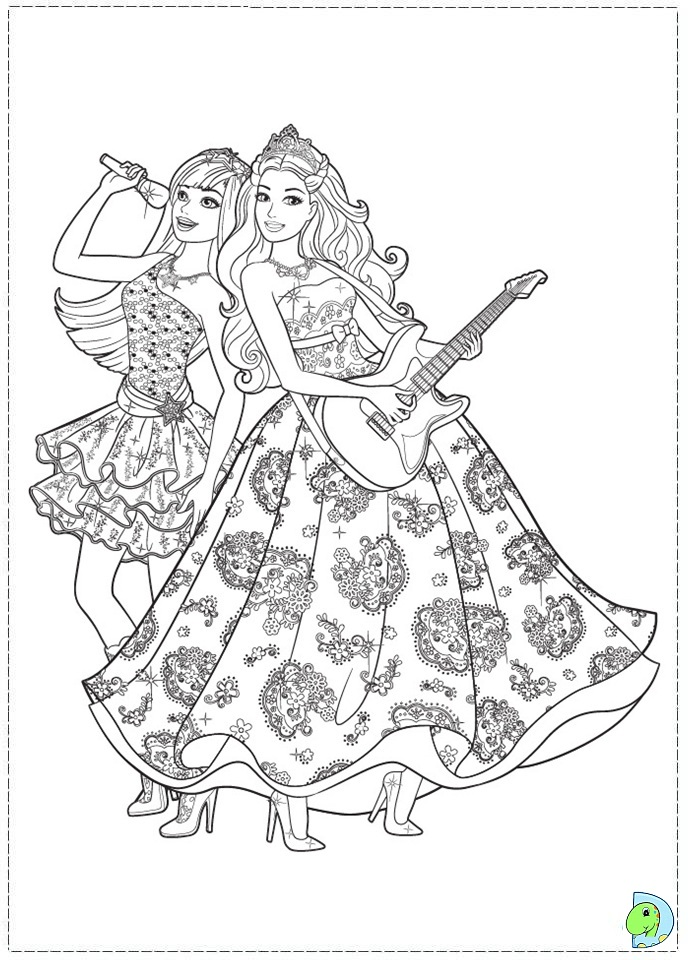Princess And The Popstar Coloring Sheets Coloring Pages