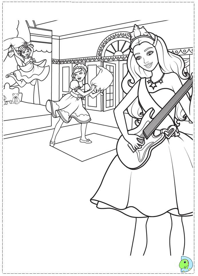 Barbie the princess and the popstar coloring page - Coloriage barbie pop star ...