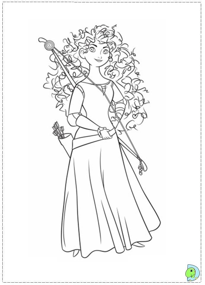 Brave coloring page Princess Merida