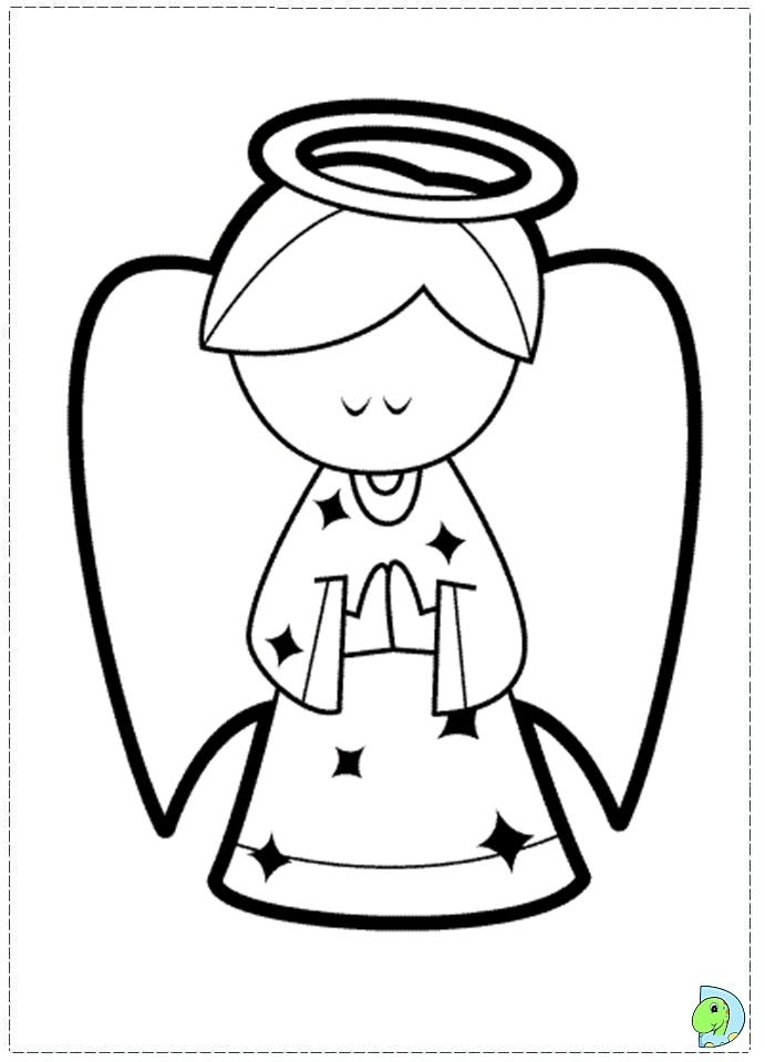 angel coloring page, christmas angel colouring page